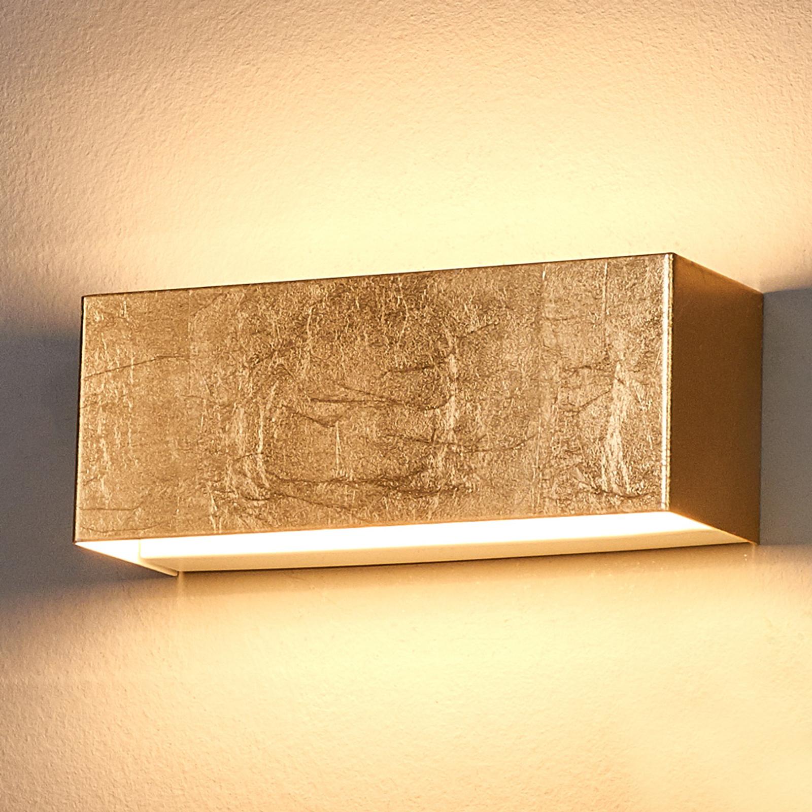 LED nástěnné svítidlo Quentin, zlaté, šířka 23 cm
