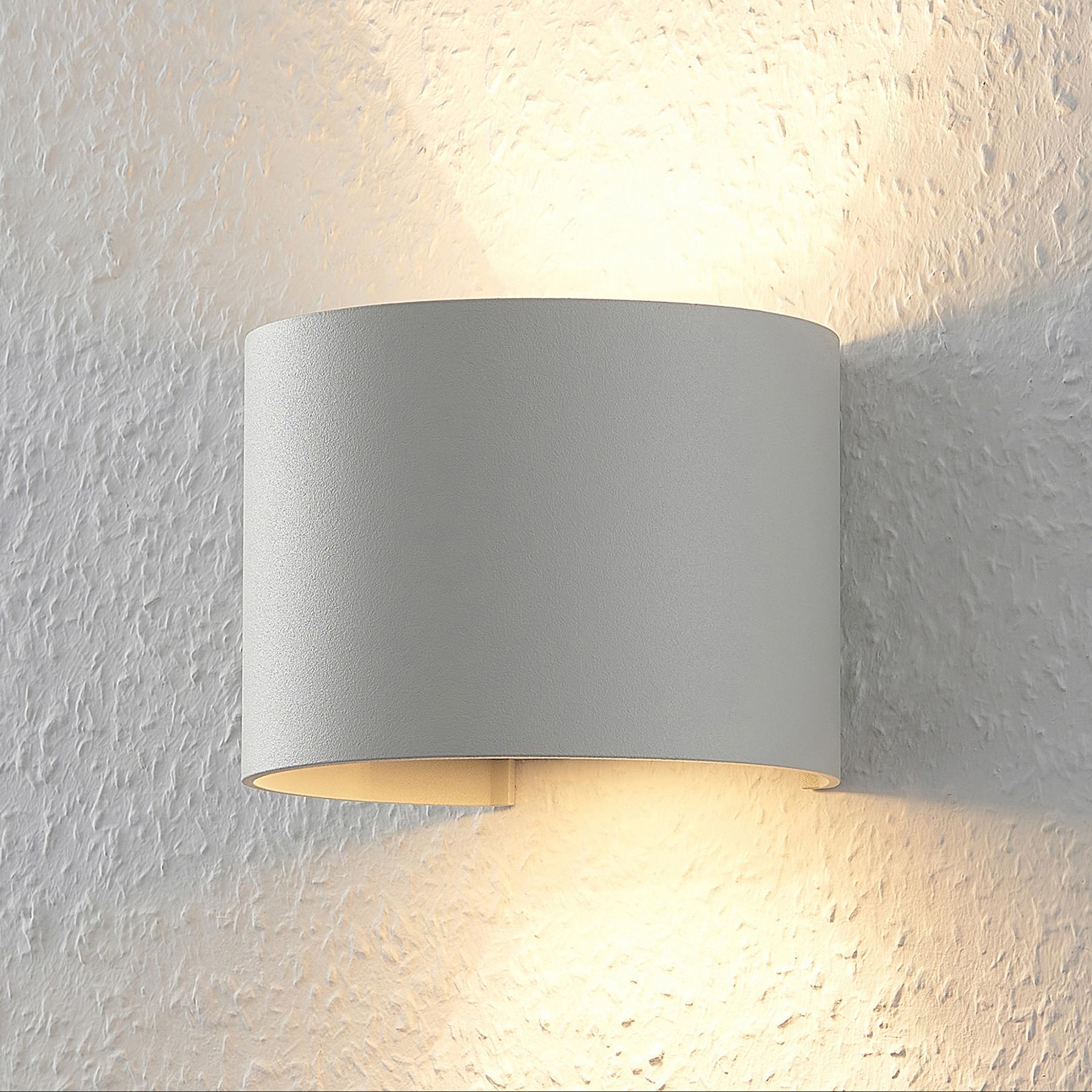 Witte LED wandlamp Zuzana, rond