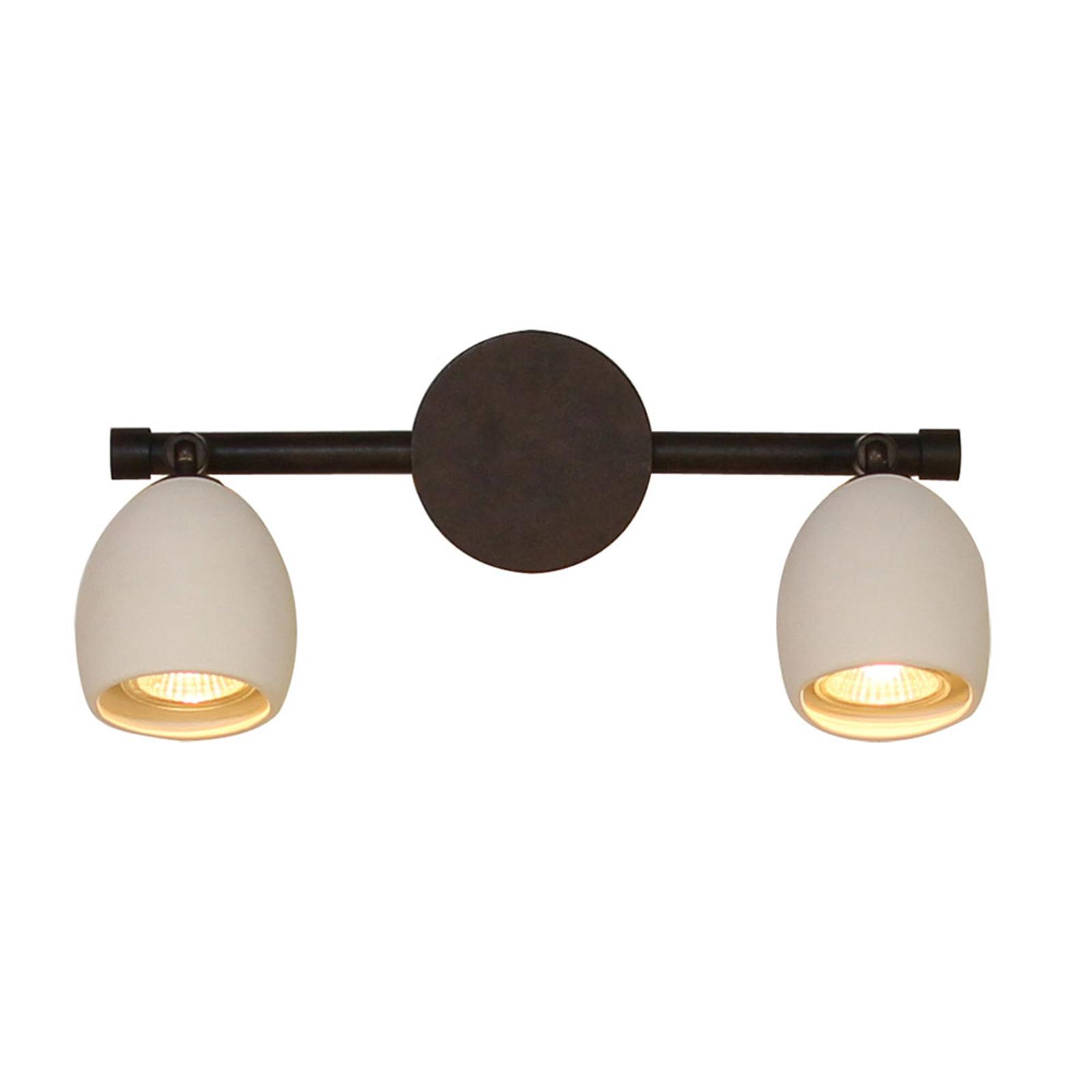 Menzel Provence matowa lampa ścienna 2-punktowa