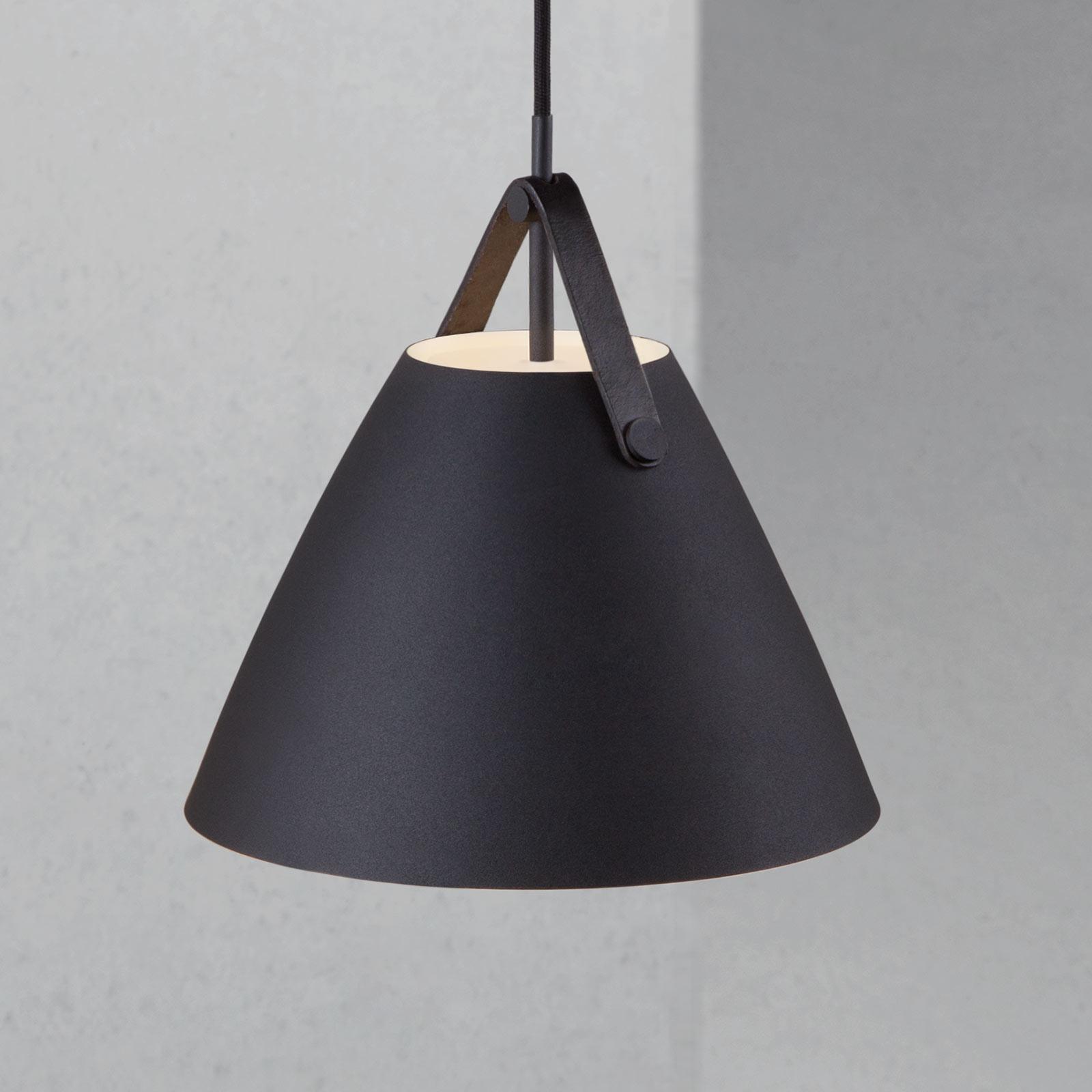 Lampa wisząca Strap czarna, Ø 27 cm