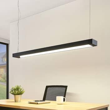 Arcchio Cuna LED-pendellampa svart, kantig 122 cm