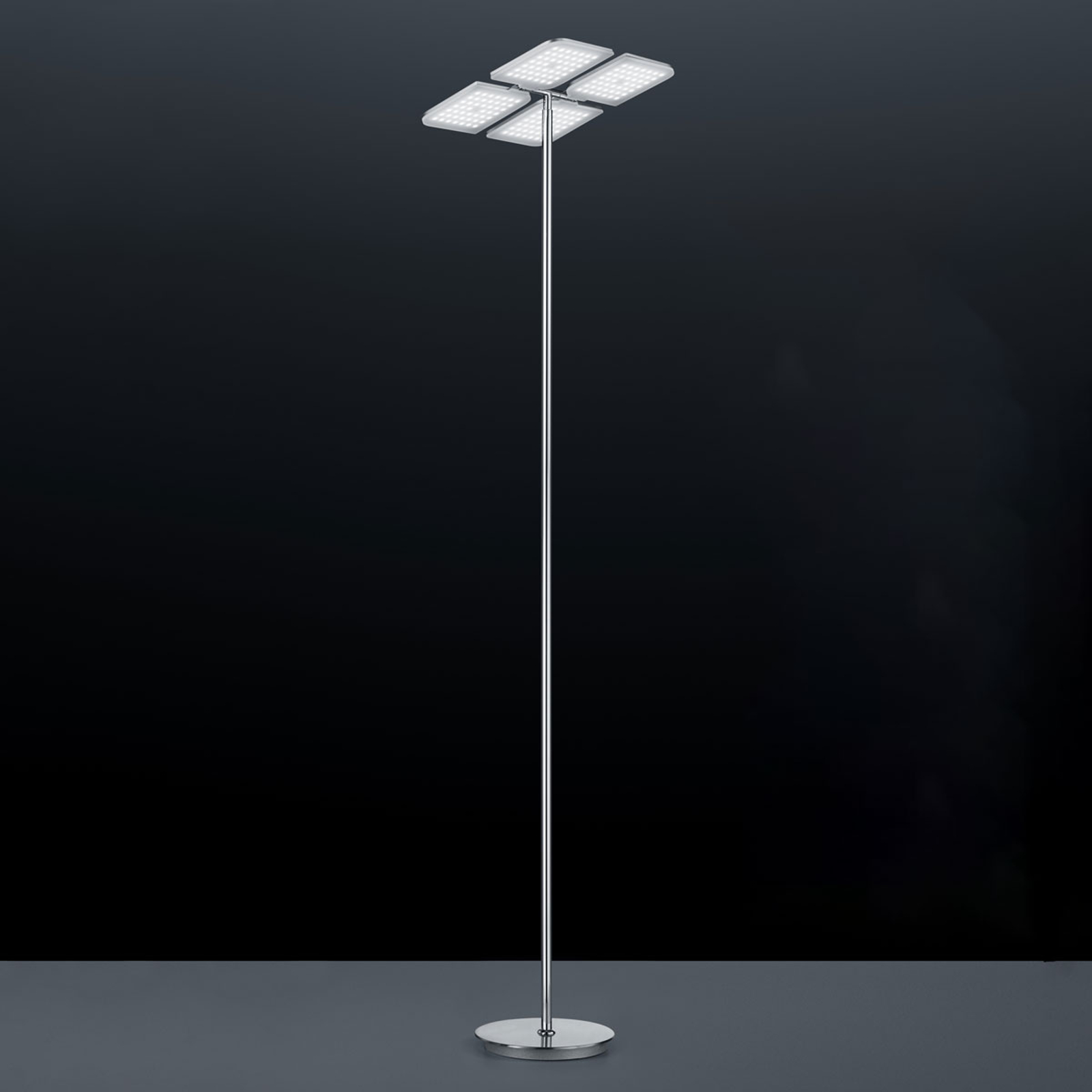 BANKAMP Quadrifoglio LED vloerlamp, warmwit
