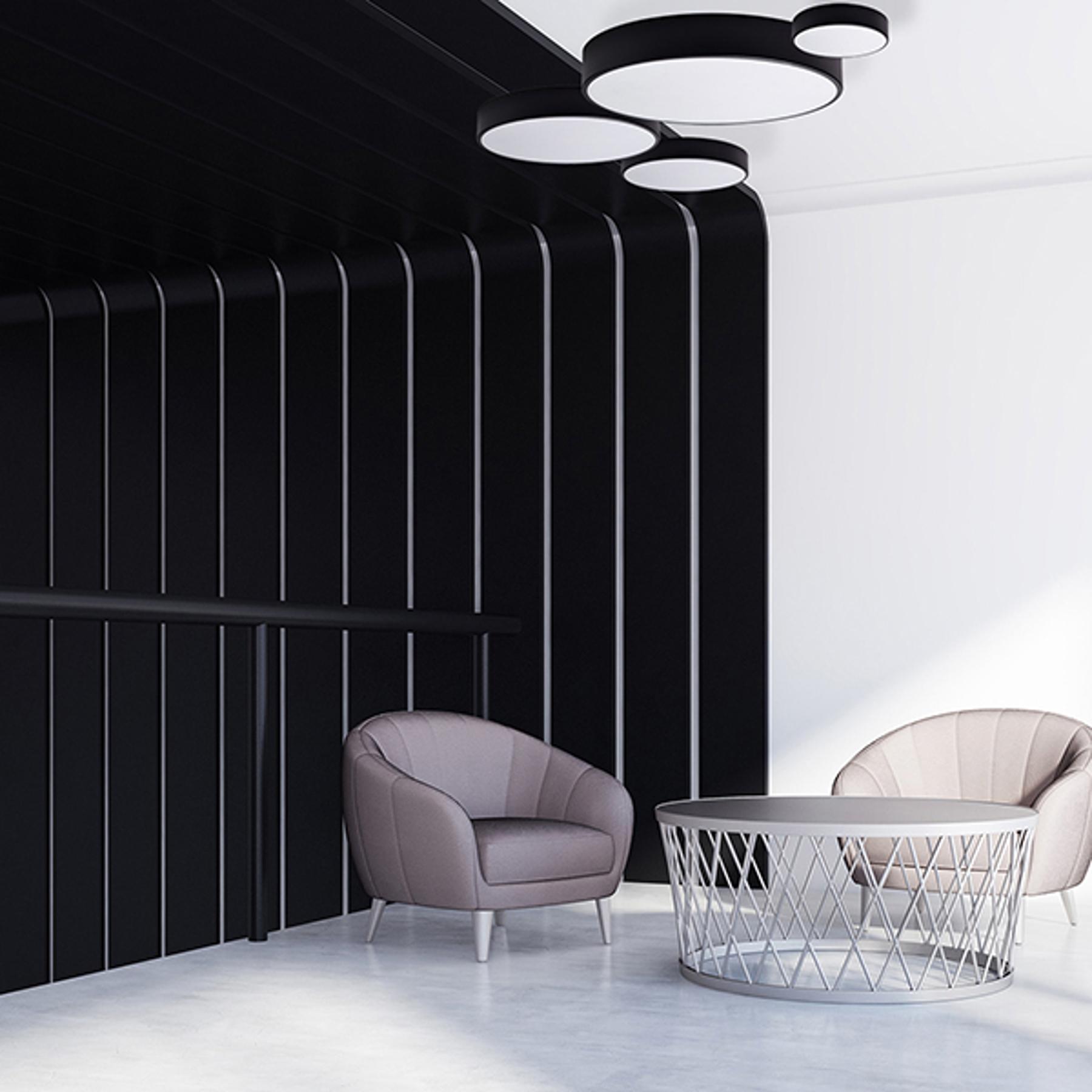 Lampa sufitowa Cleo, Ø 40cm, czarna
