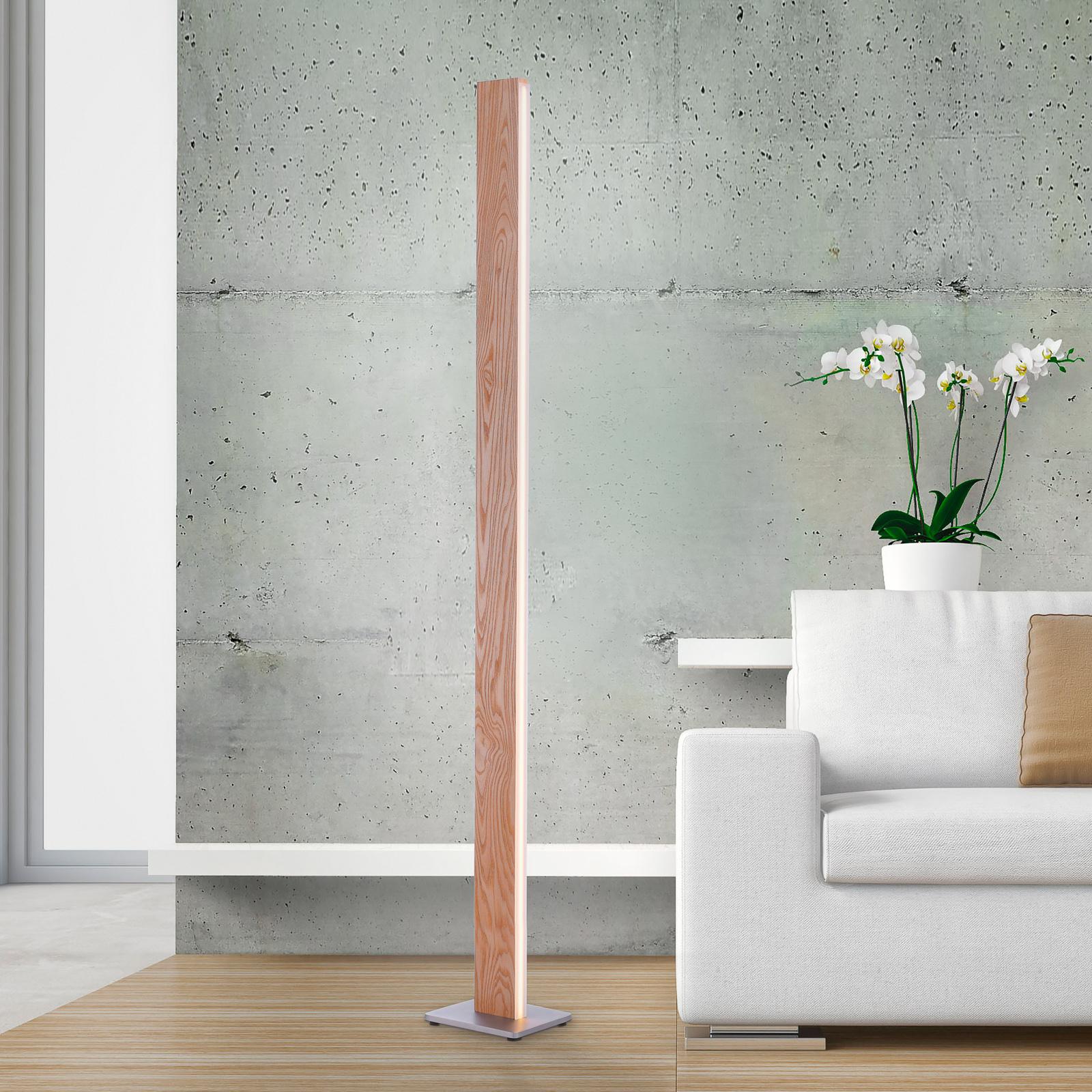 Paul Neuhaus Q-TIMBER LED-gulvlampe med træ