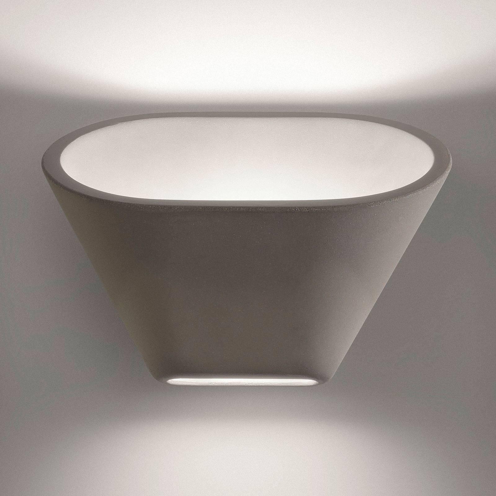 Foscarini Aplomb LED-Wandleuchte, dimmbar, grau