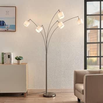 Lindby Stannis båglampa, textil, 5 lampor