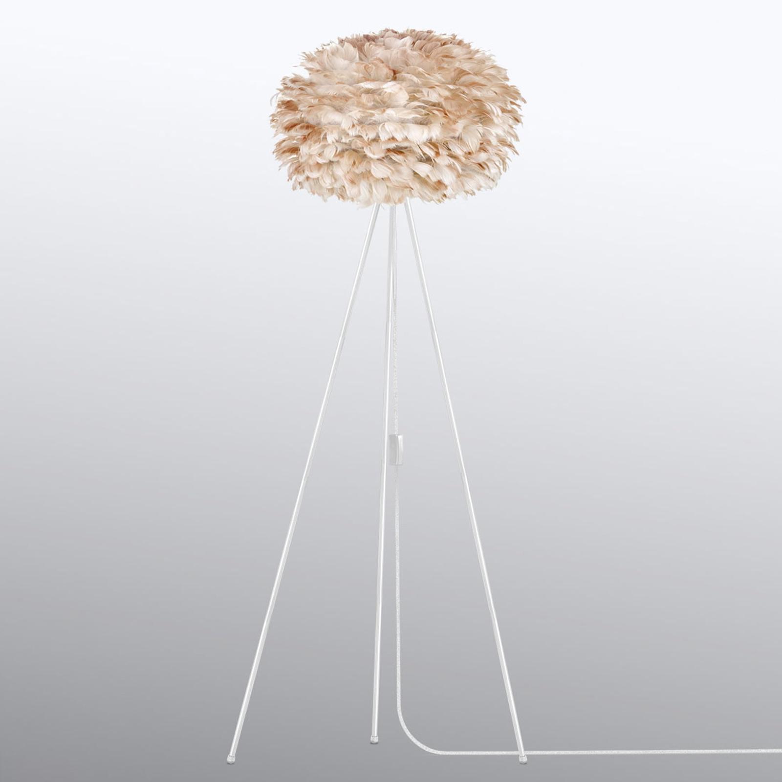 UMAGE Eos medium standerlampe, tre ben, lysebrun