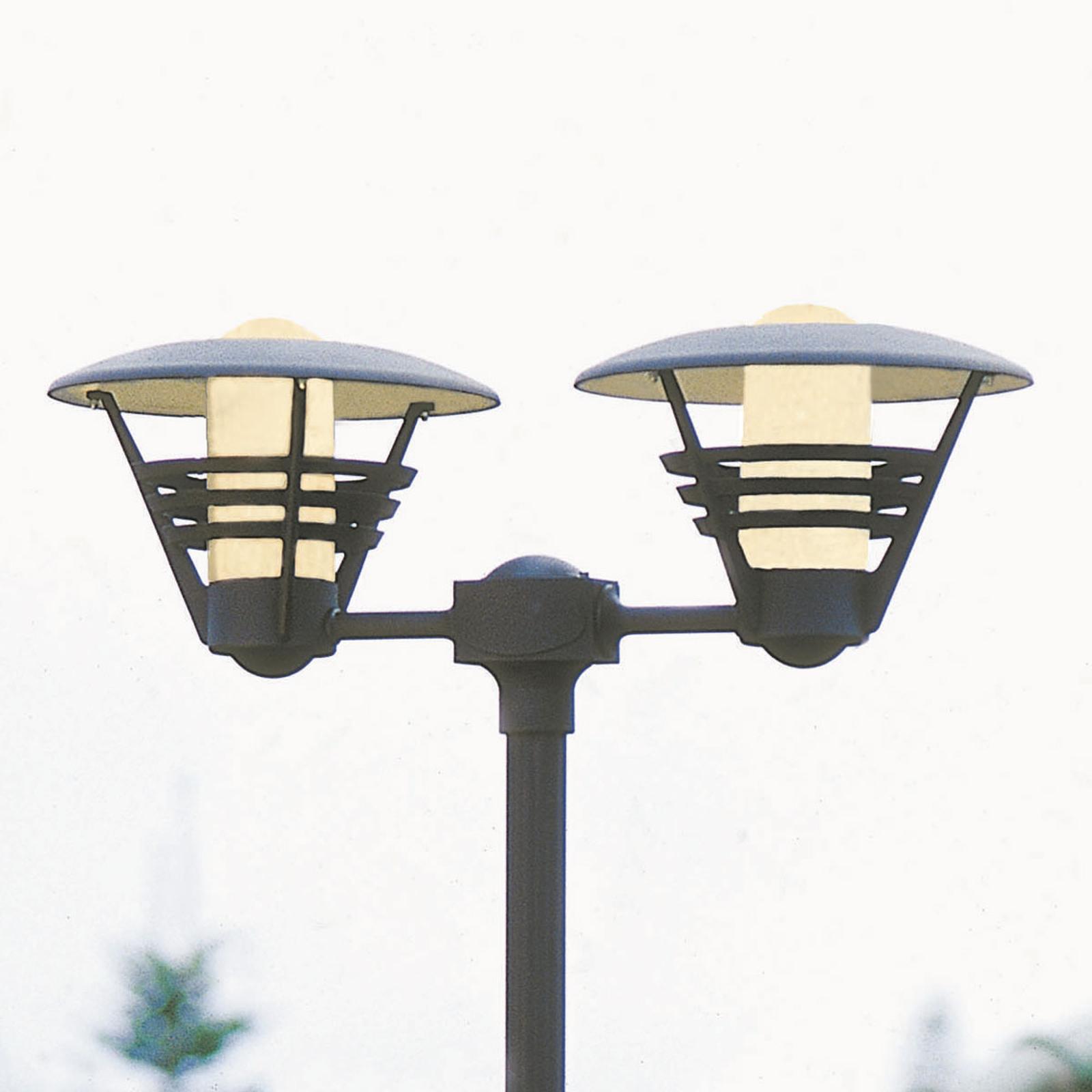 Kaksilamppuinen lyhtypylväs GEMINI musta