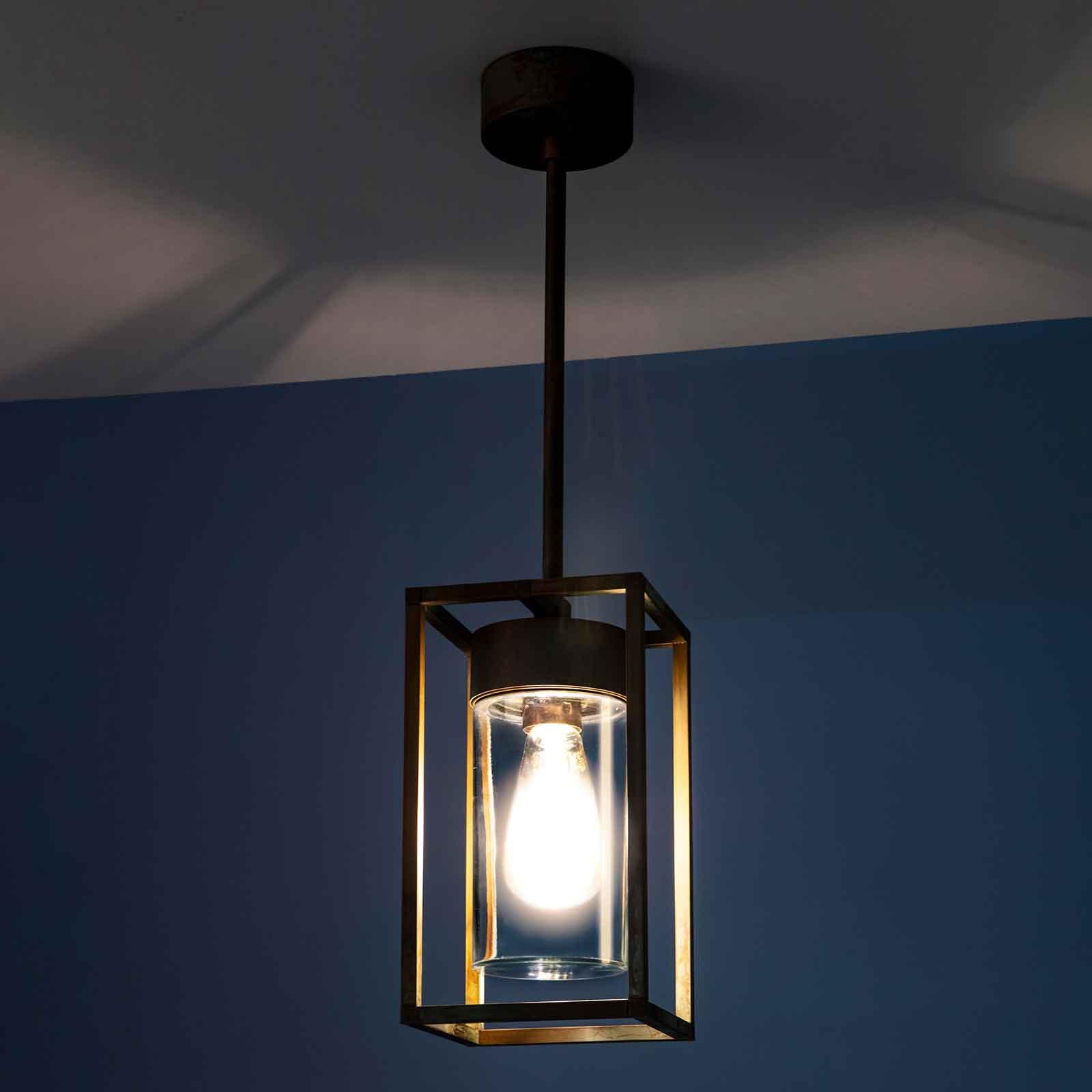 Lampa wisząca Cubic³ 3368 mosiądz przezroczysta