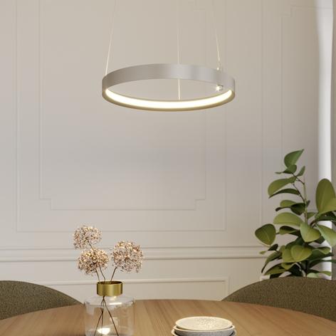 Lucande Naylia LED-Hängeleuchte in Nickel
