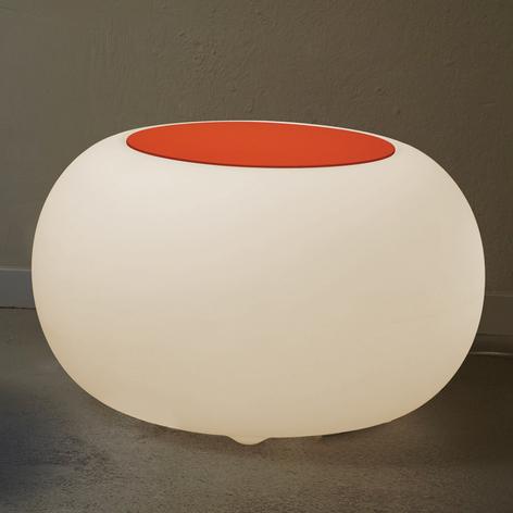 Tafel-kruk BUBBLE met accu, oranje vilt