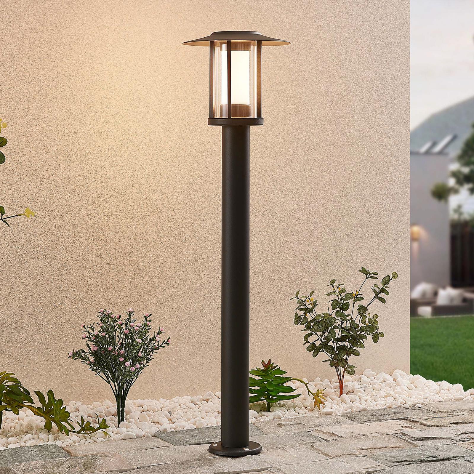 LED-gadelampe Gregory grå
