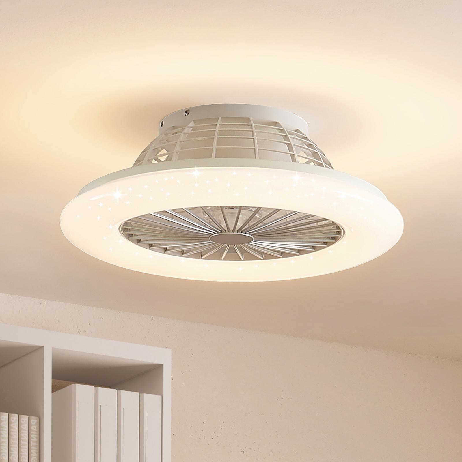 Lindby Taloni ventilatore a pale LED con luce