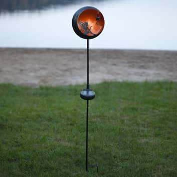 LED-solcellslampa Fairytale, orange