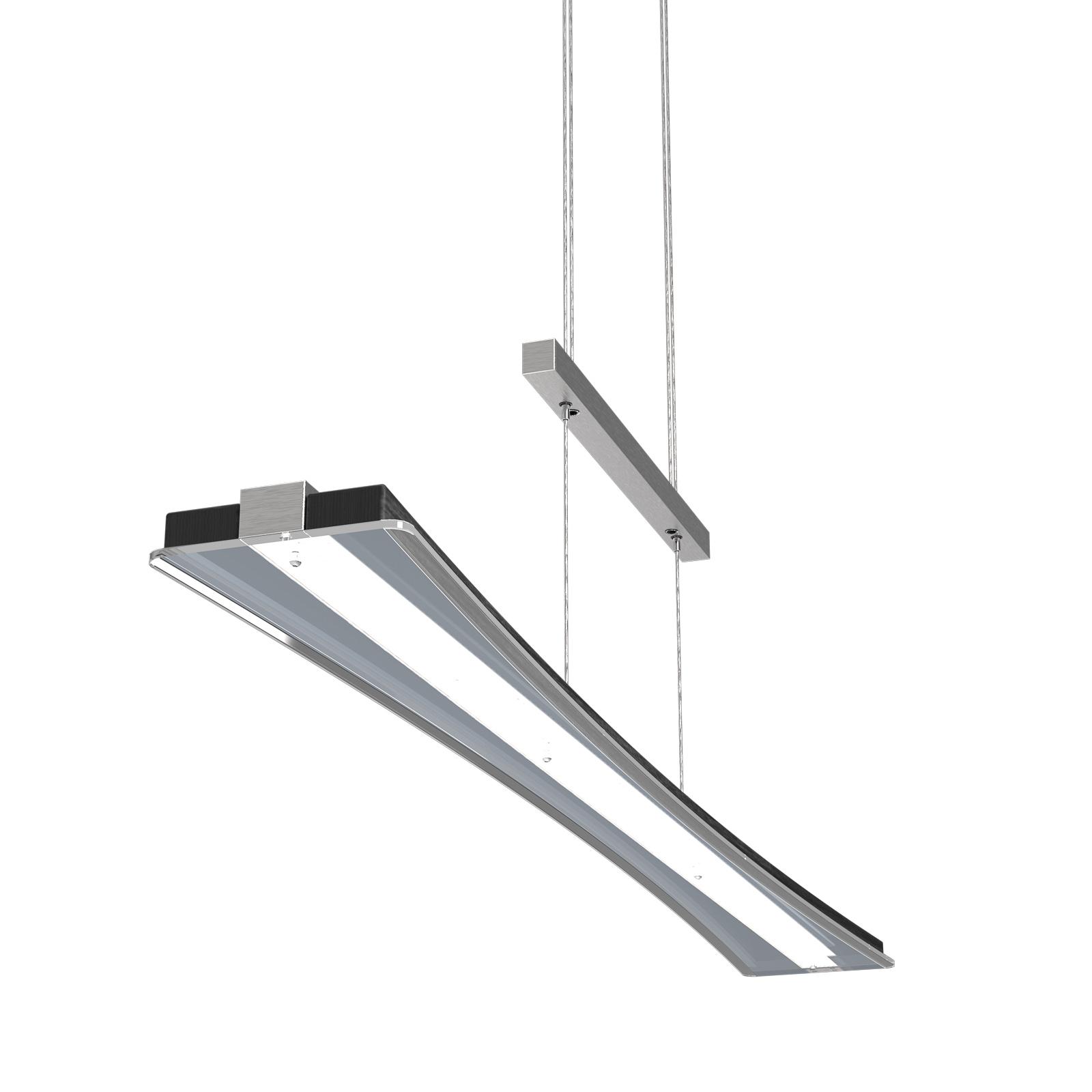 LED hanglamp Panama, eiken zwart