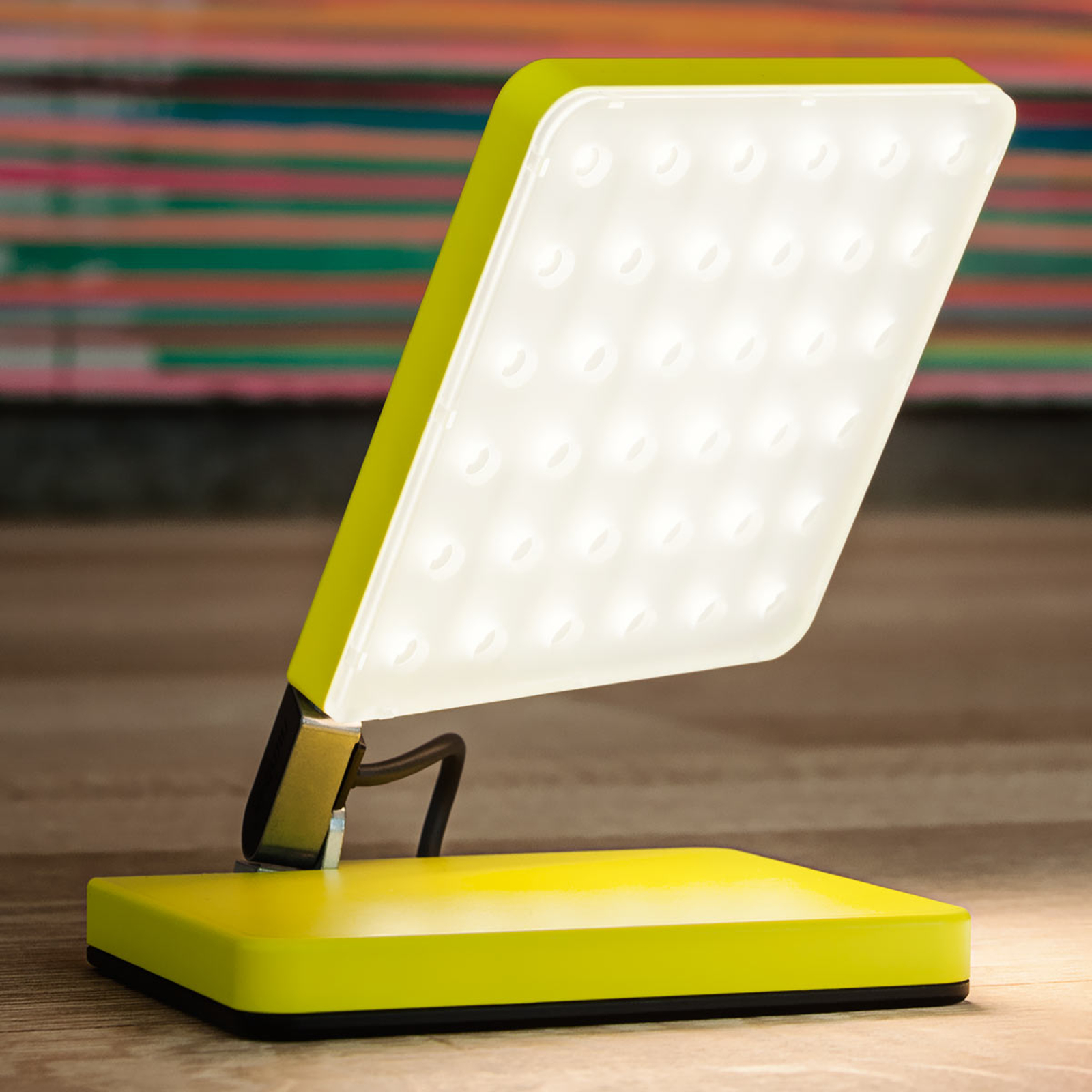 Nimbus Roxxane Fly LED tafellamp, neon geel