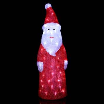 Dekoracyjna zewnętrzna figura LED Crystal Santa