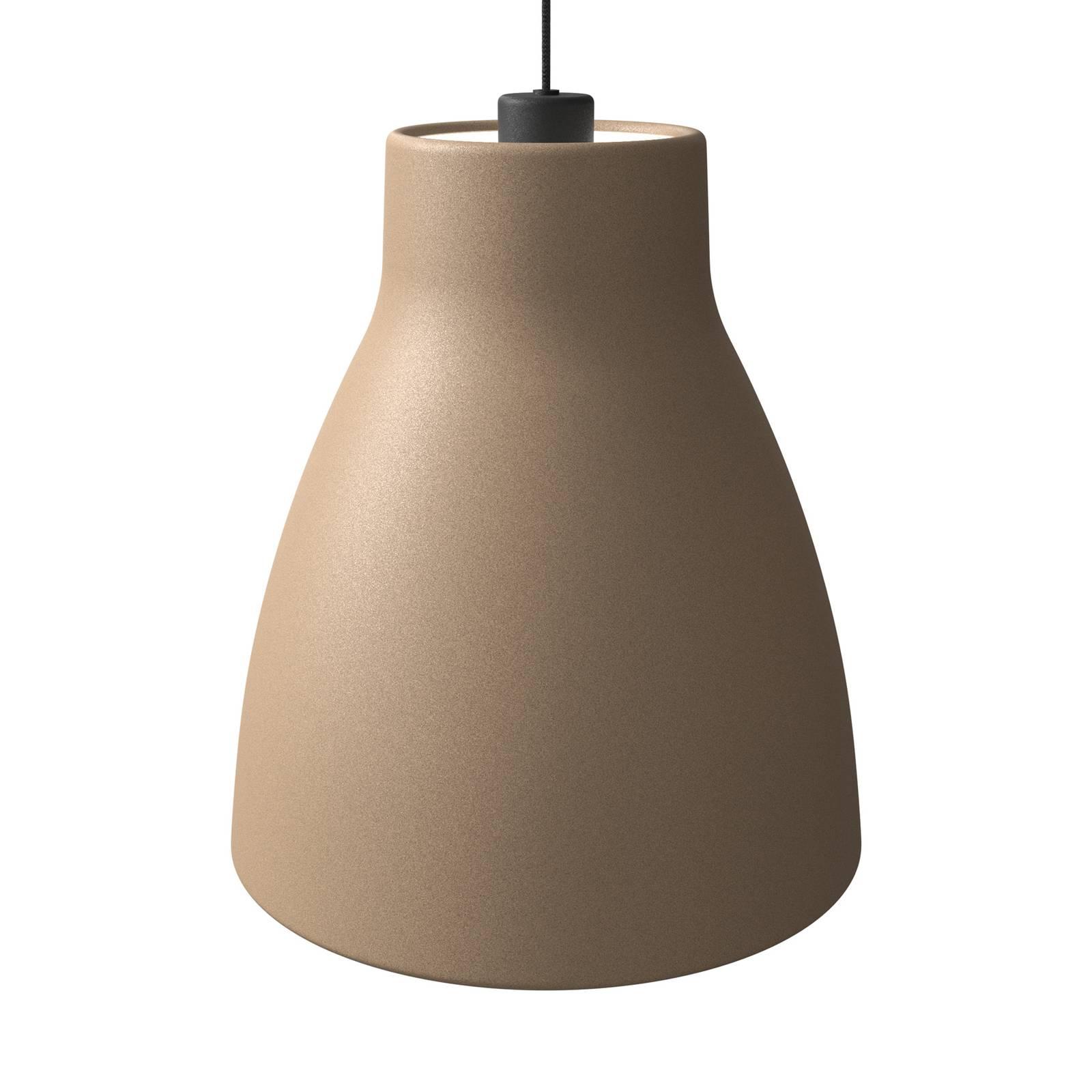 Pendelleuchte Gong, Ø 32 cm, sandfarben