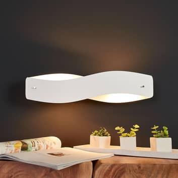 Vit LED-vägglampa Lian i ädel design – dimbar