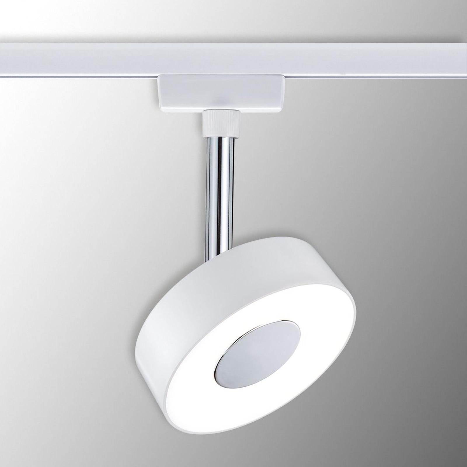 Paulmann URail Circle LED-spot, rundt, i hvidt