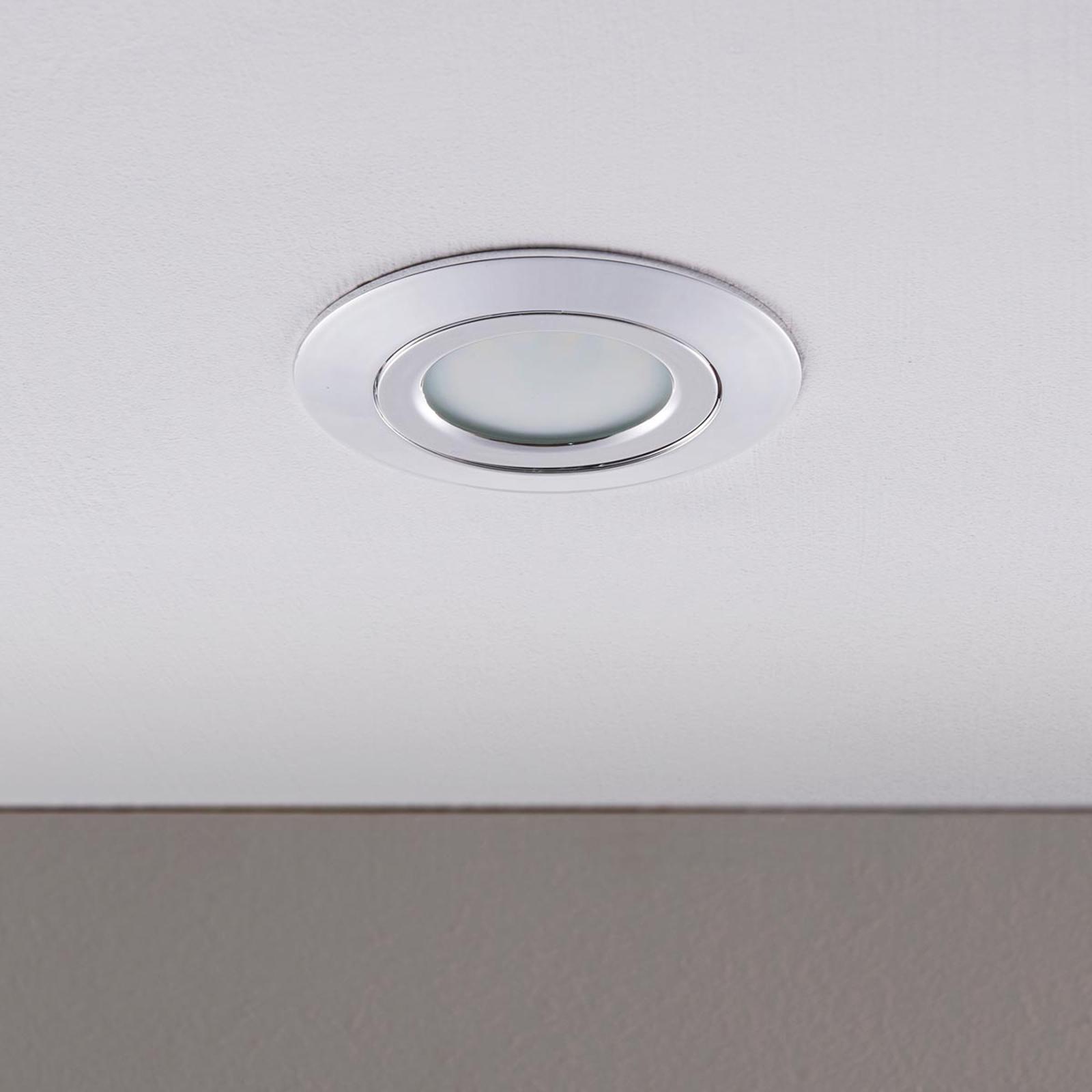 LED-Einbaustrahler Andrej, rund, chrom