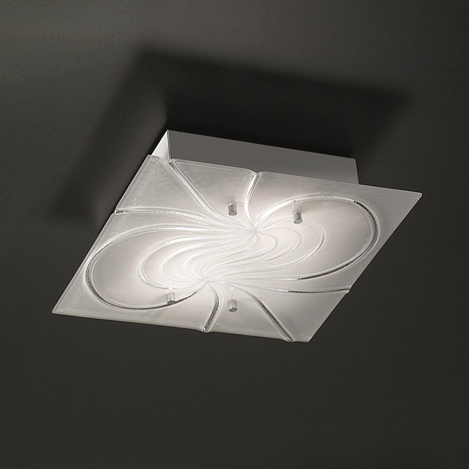 Kwadratowa lampa sufitowa Mistral 34 cm