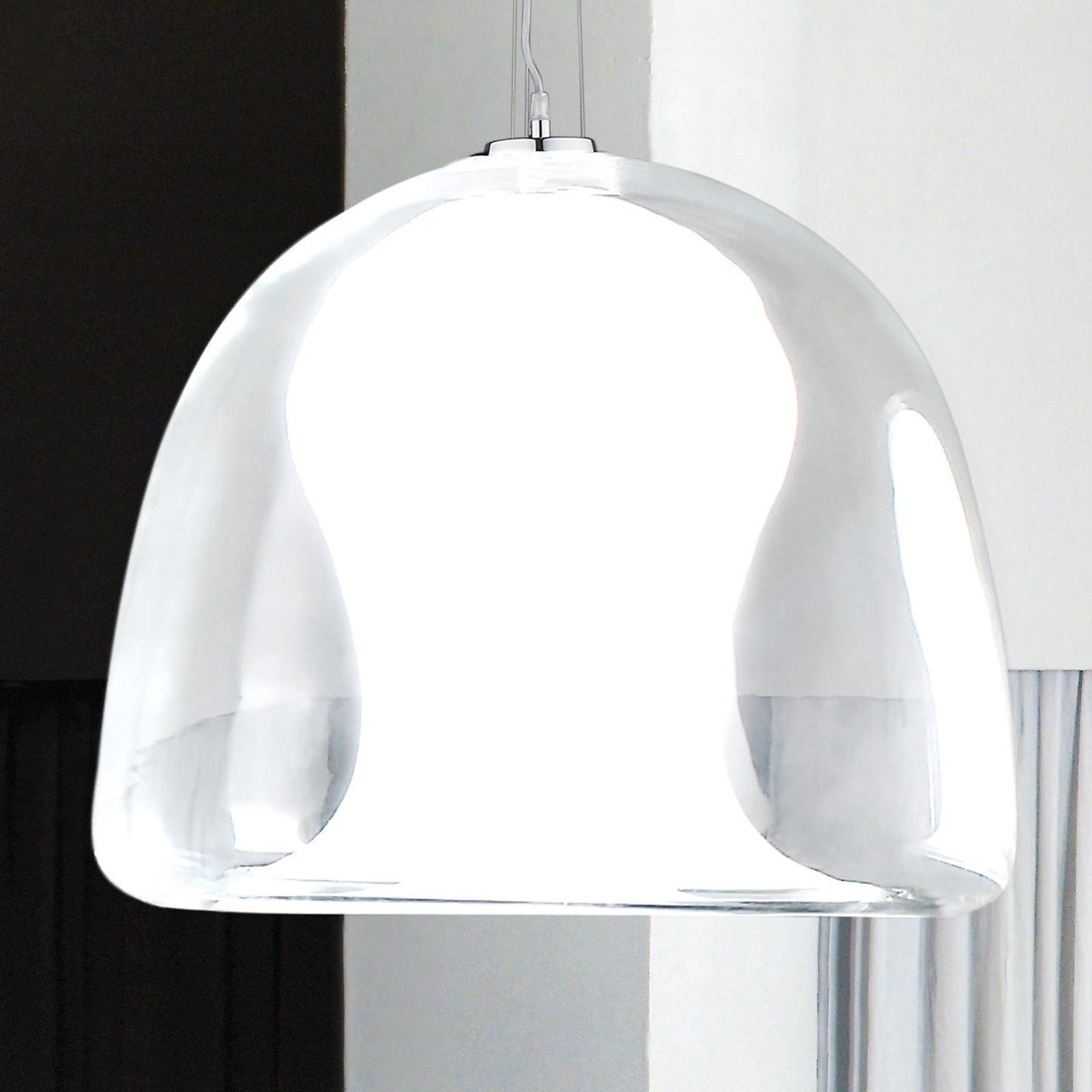 Lampa wisząca Naranza, kryształ, Ø 40 cm biała