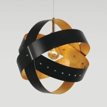 Ecliptika - lampa wisząca z płatkowanym złotem