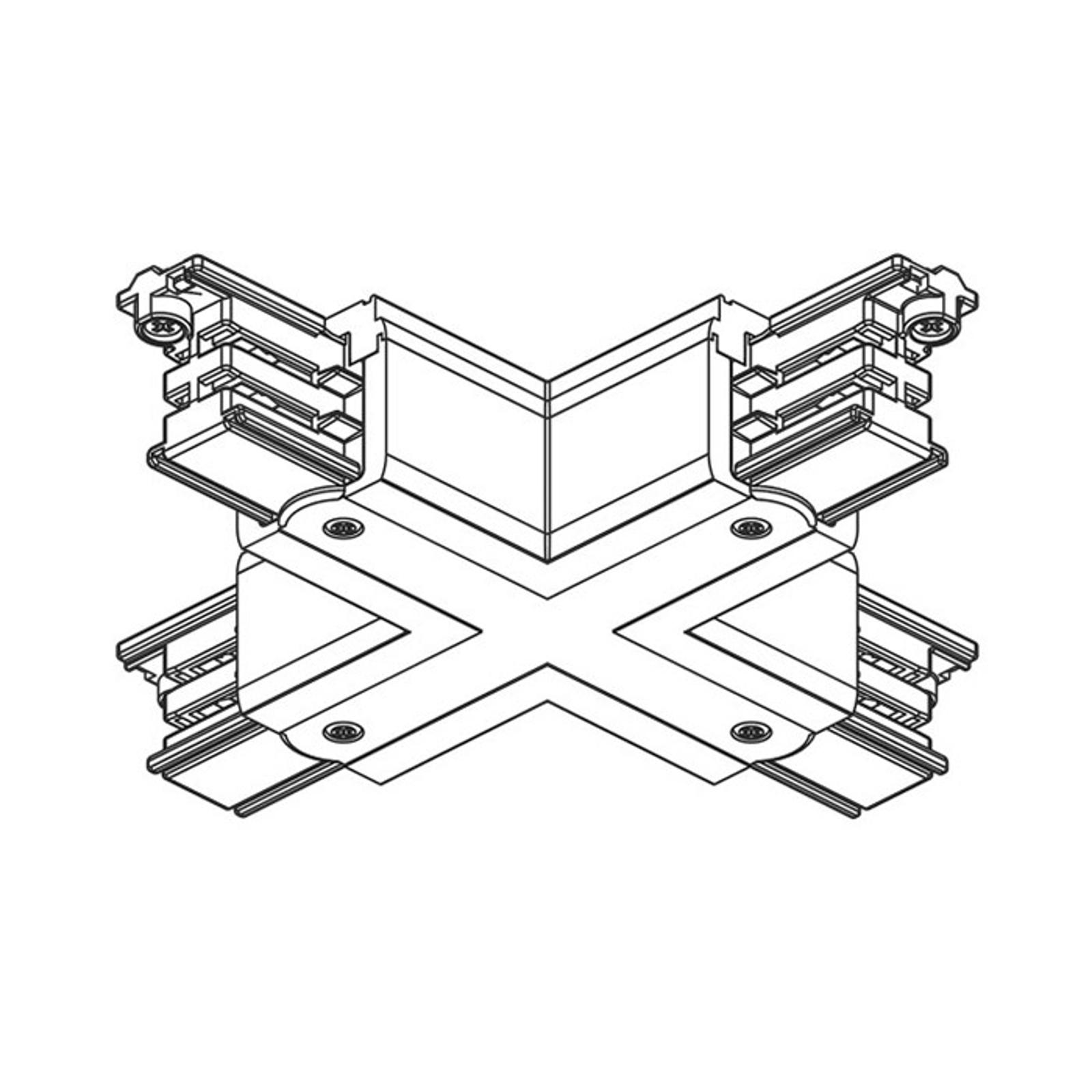 X-Verbinder 3-Phasen Stromschiene Noa, grau