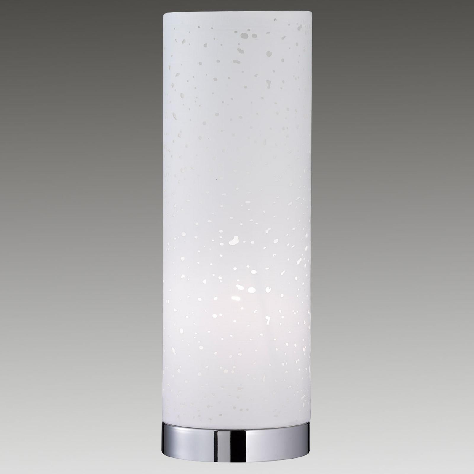 Kształt świetlówki, lampa stołowa Thor, biała
