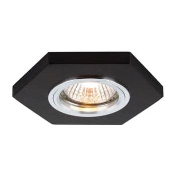 Sirion LED-indbygningsspot, sekskantet, valnød