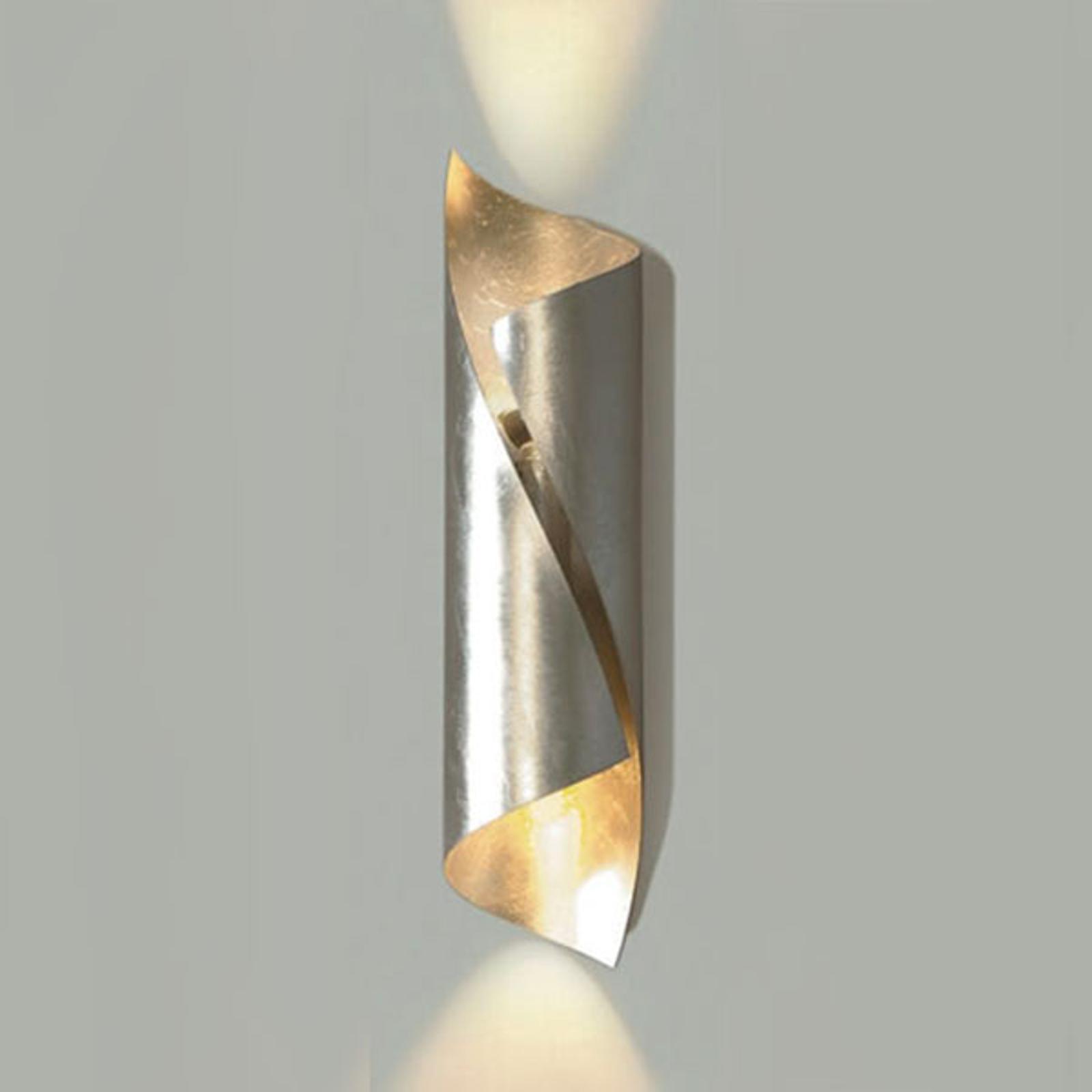 Knikerboker Hué wandlamp hoogte 54 cm bladzilver