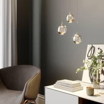 LED závěsné světlo Hayley, 3zdrojové, zlaté