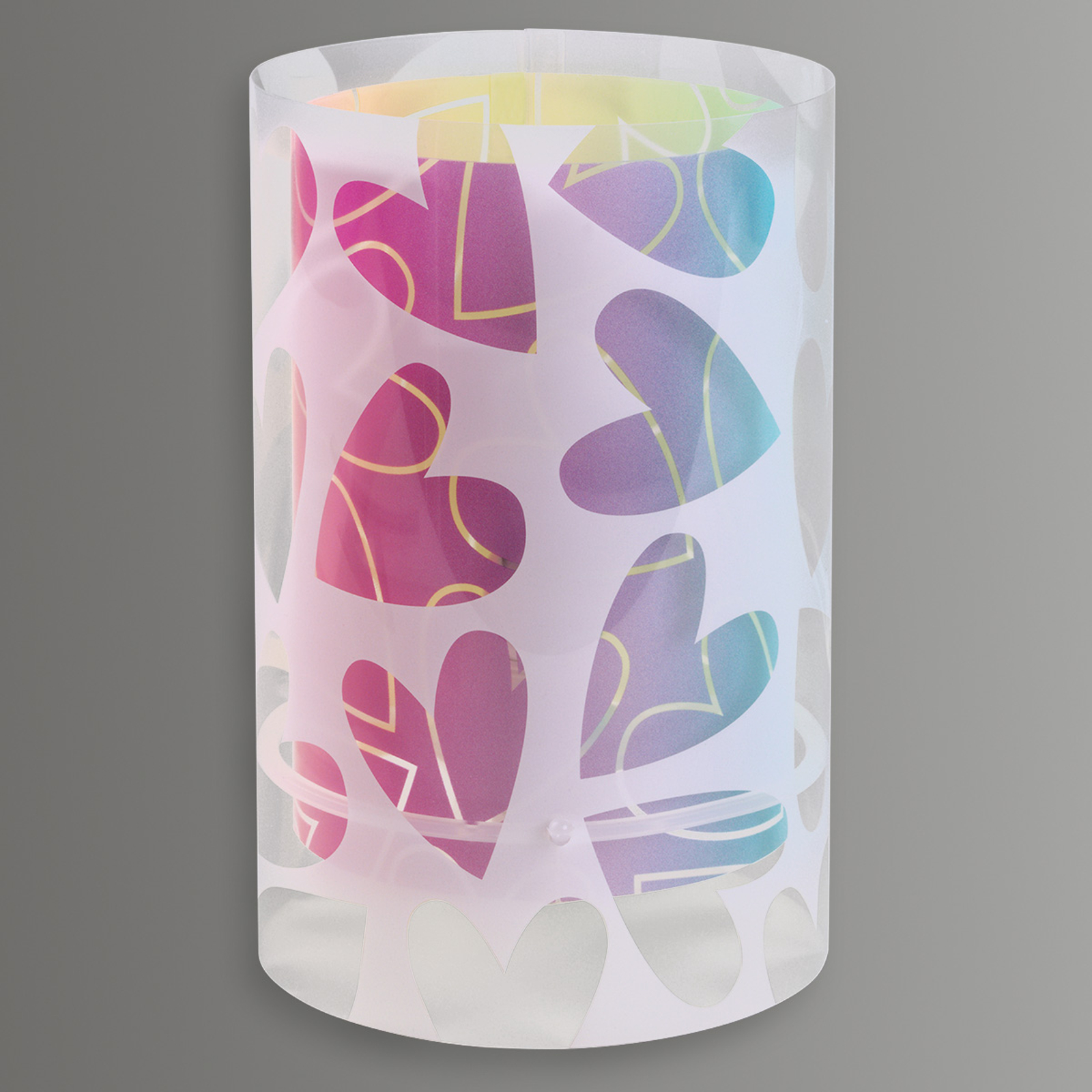 Cuore - ozdobiona serduszkami lampa stołowa