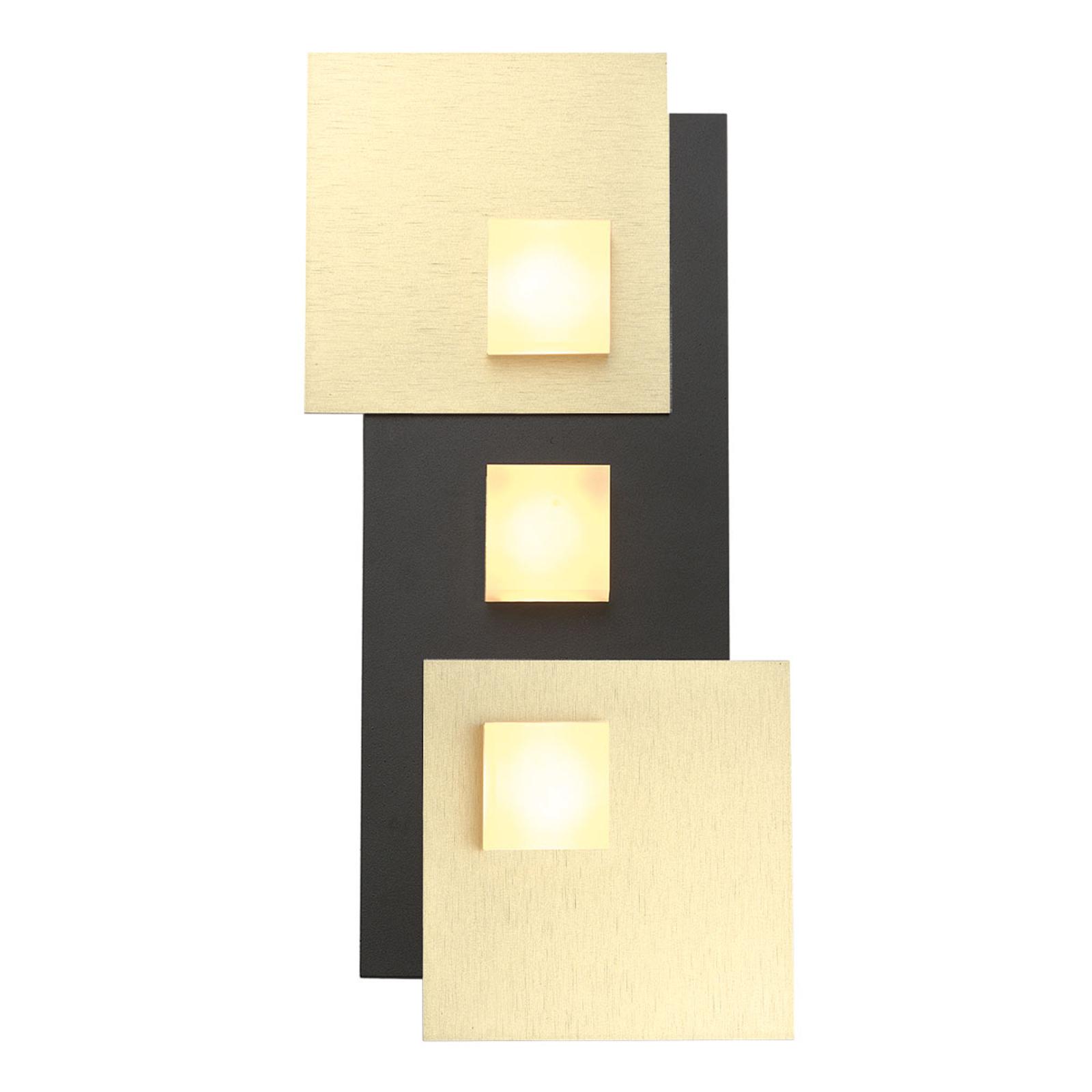 Bopp Pixel 2.0 LED plafondlamp 3-lamps zwart