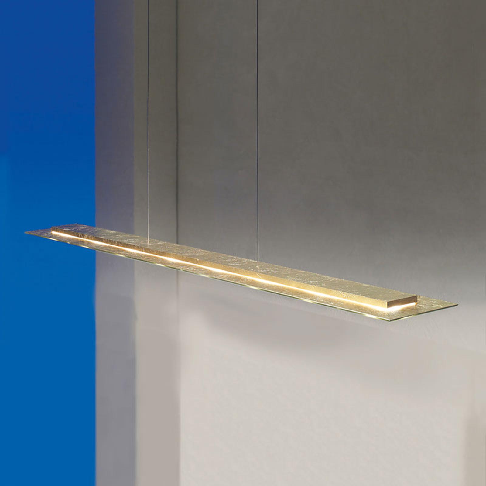 Dimbar Skyline LED-pendellampe med bladgull
