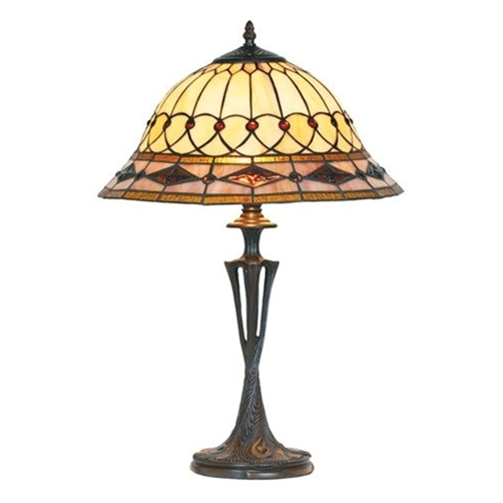 Lampa stołowa Kassandra w stylu Tiffany, 59 cm