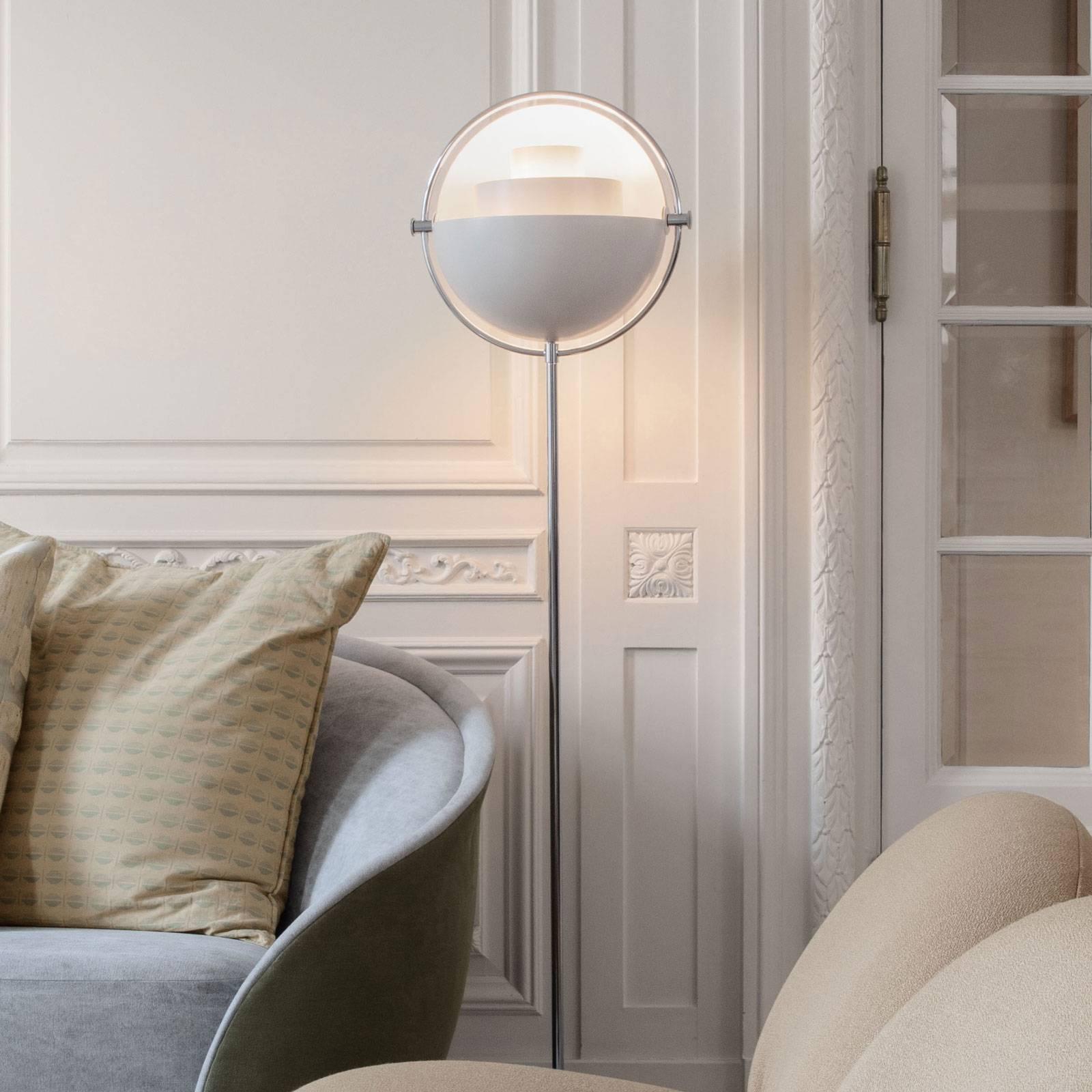 GUBI Multi-Lite lampadaire chromé/blanc