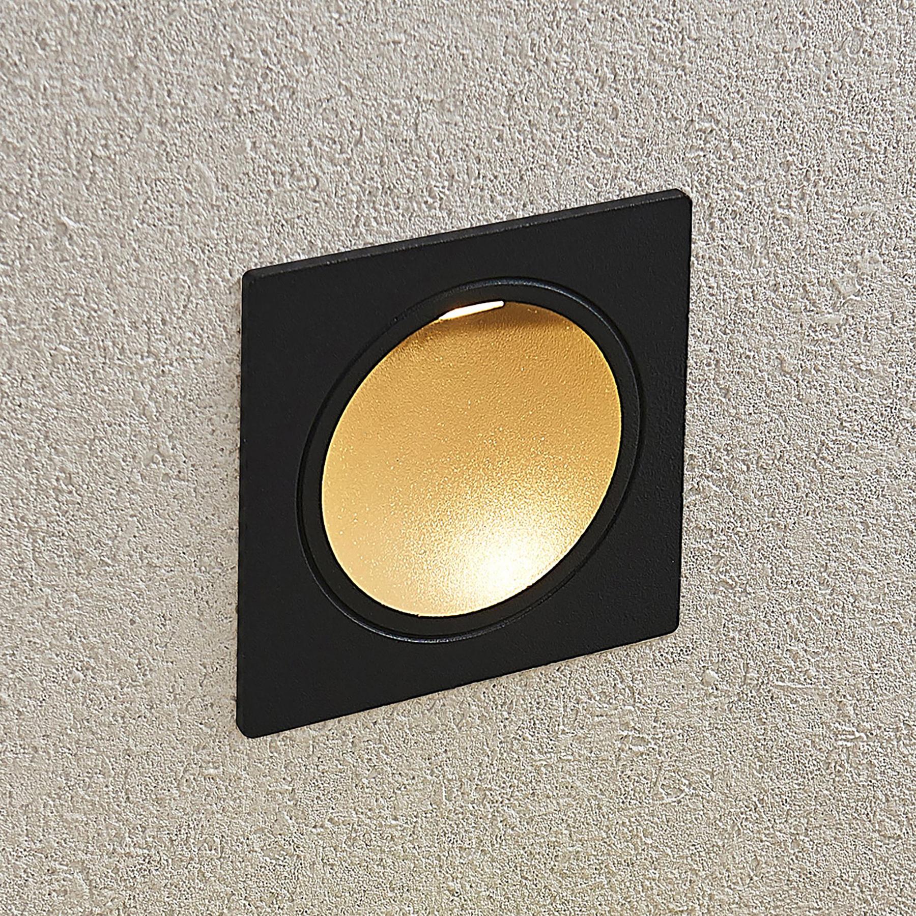 Applique a LED da incasso Pordis, IP65, quadrata