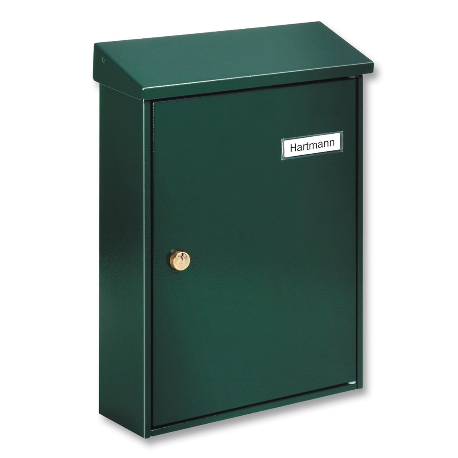 Zelená, prostá poštovní schránka Letter 5832