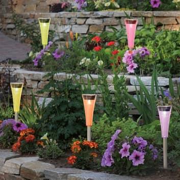 Colorato - fina LED-solcellslamp.-jordsp. set 5 st