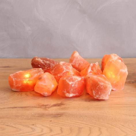 Lichterkette Leuchtkristalle mit Salzstein