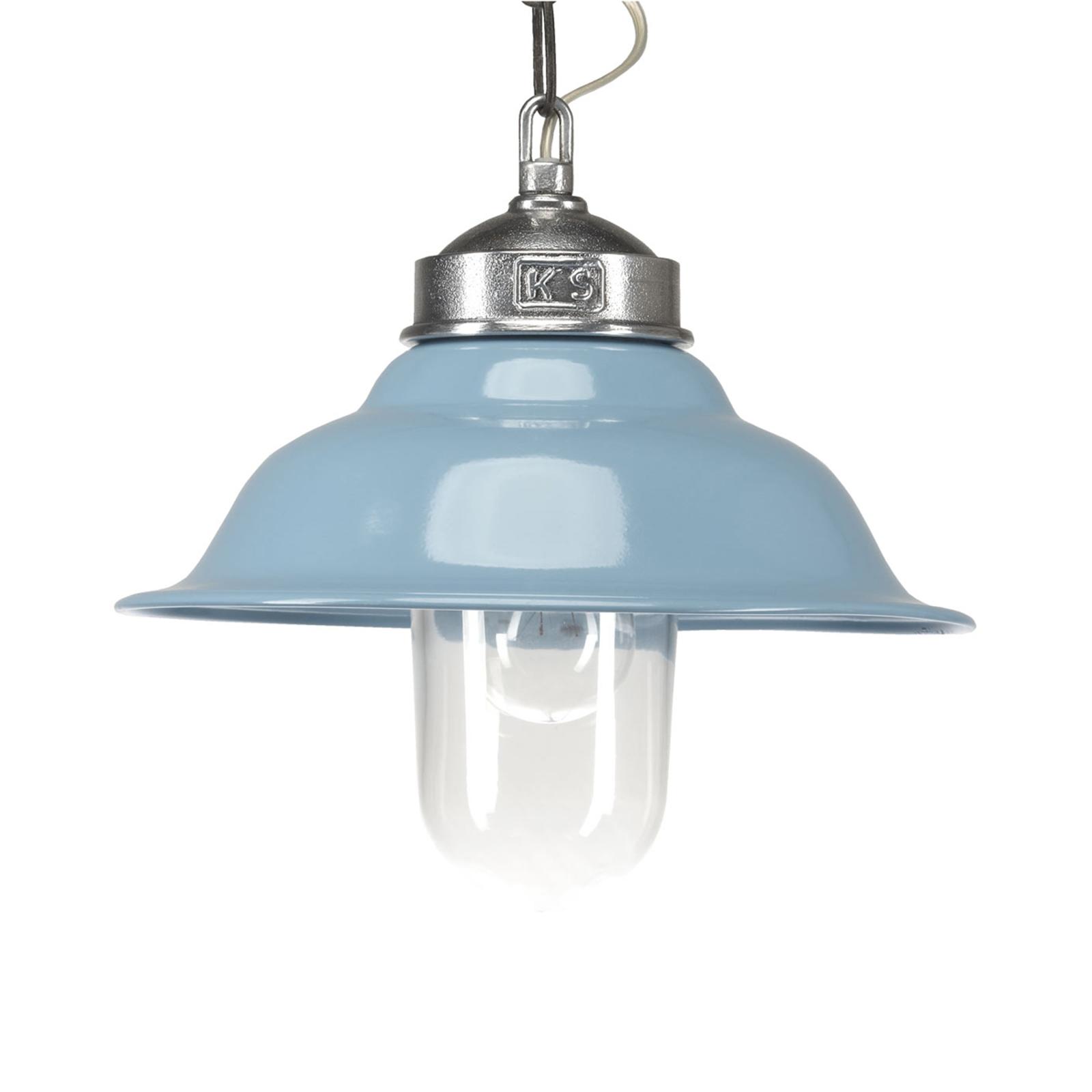 Blauwe Retro-hanglamp Porto Fino