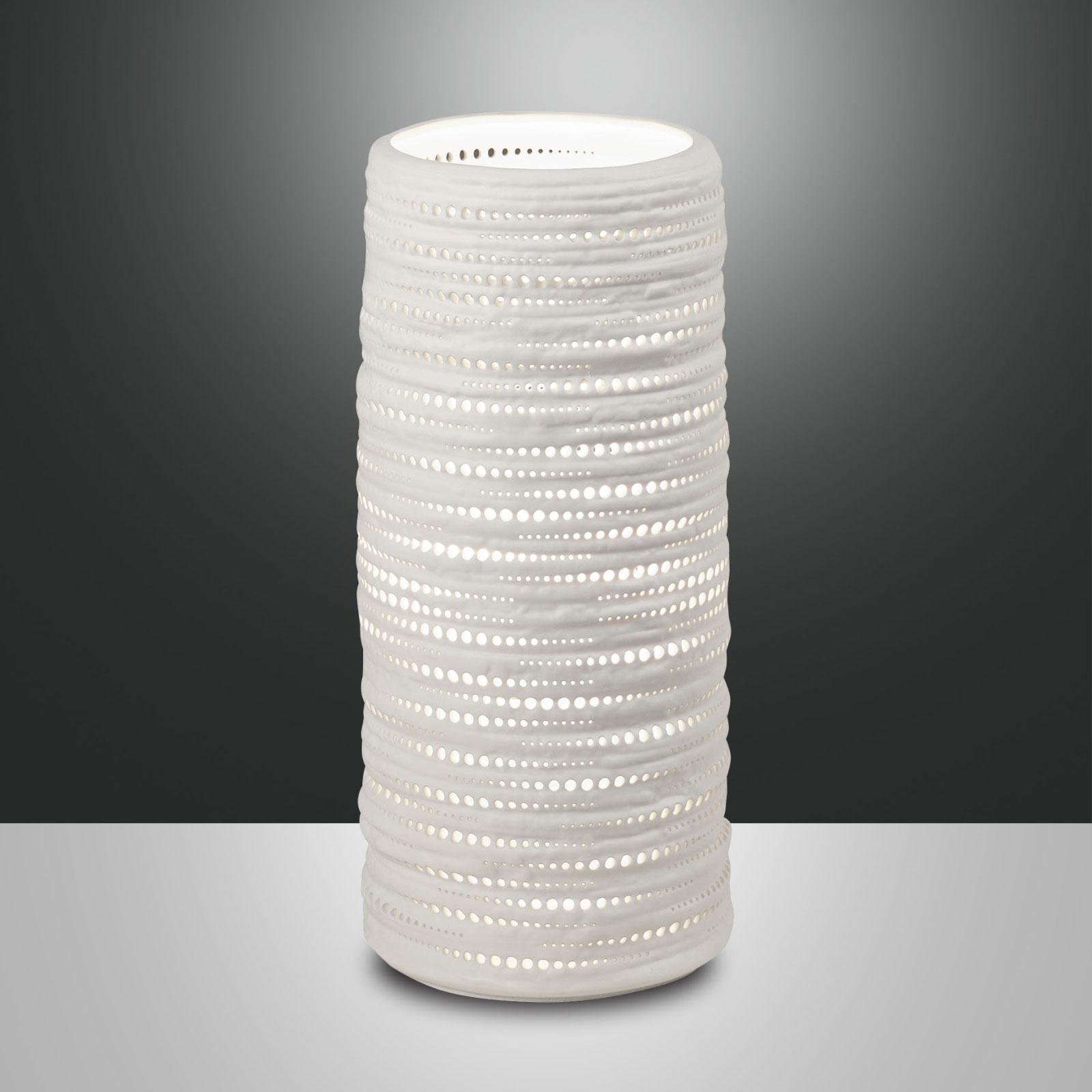 Lampe à poser Marbella en céramique, hauteur 25cm