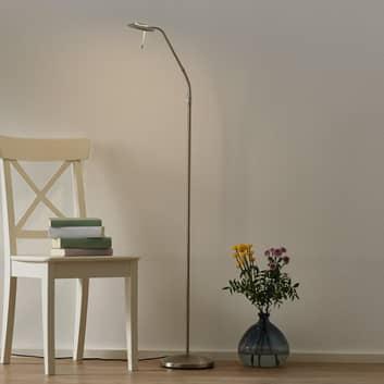 Lámpara pie LED Zenith regulable, atenuador, acero