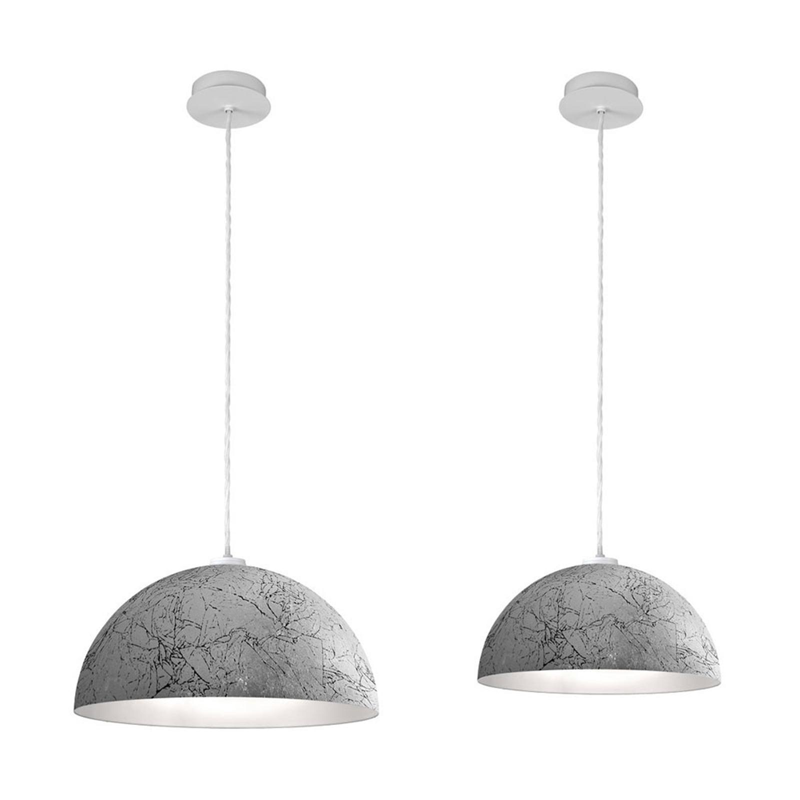 Lampa wisząca Cult Vintage, srebrna, Ø 40 cm
