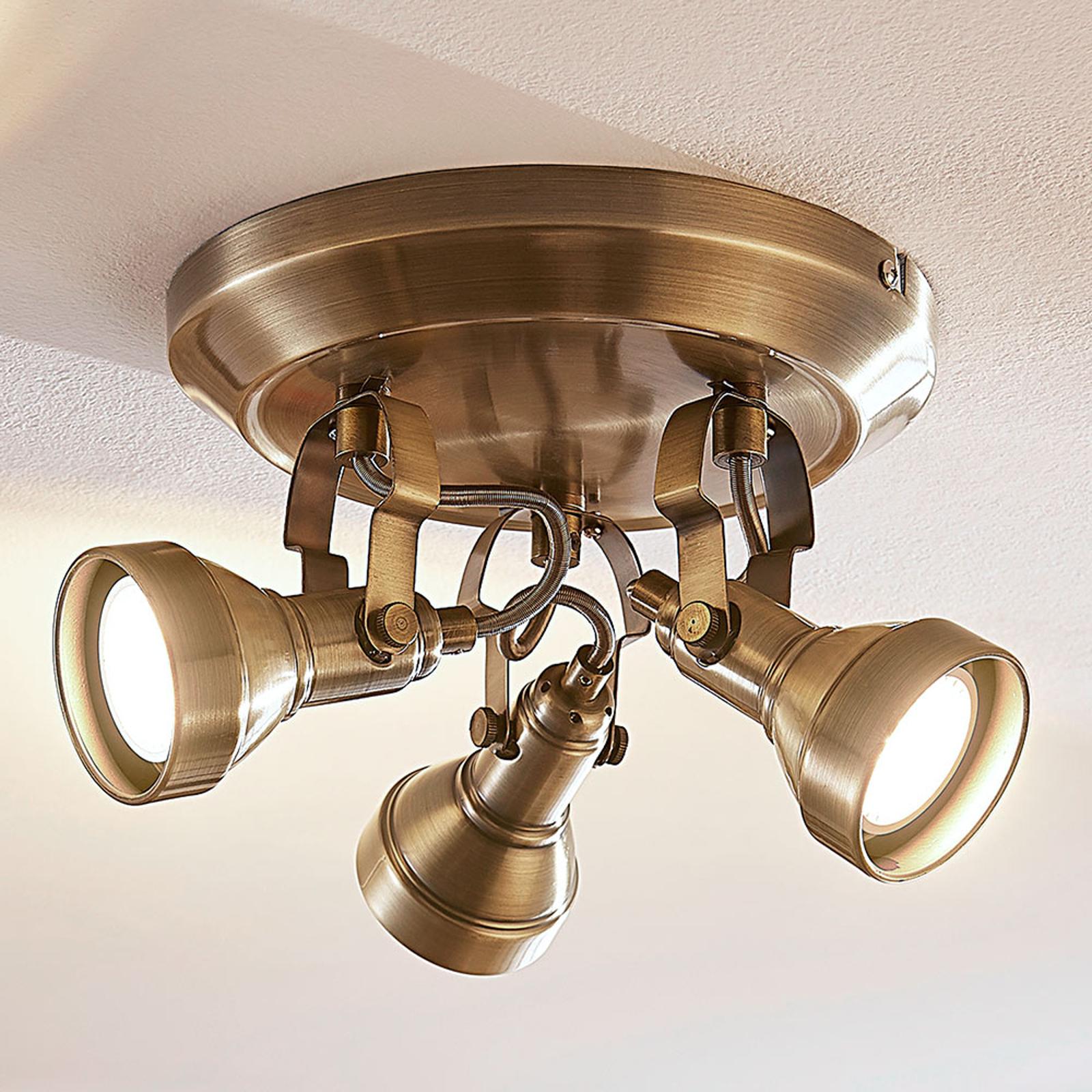 PERSEAS - lampa sufitowa LED GU10, 3-pkt.