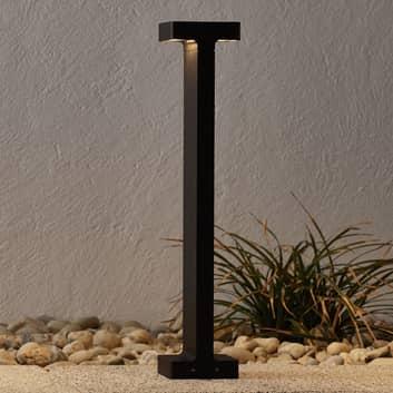 Mörkbrun LED-utomhusvägglampa Casting T 100