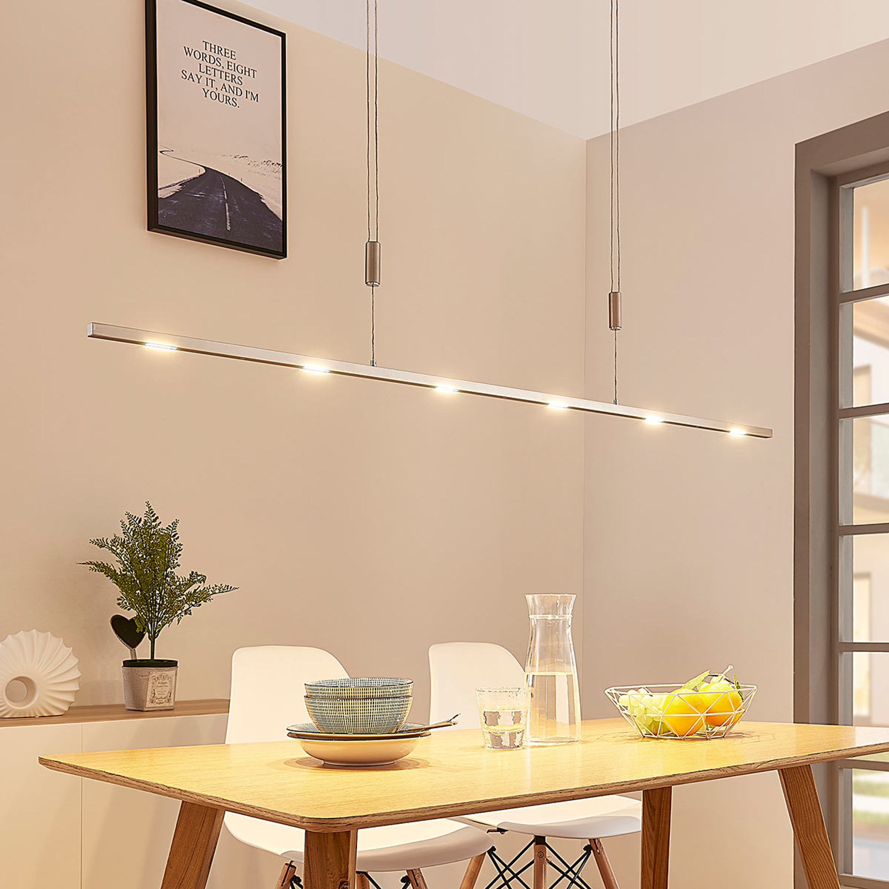 Lampa wisząca LED Arnik, ściemniana, 140 cm