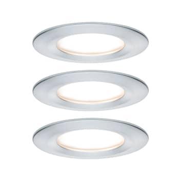Paulmann Nova LED-Einbauspot 3er rund starr alu